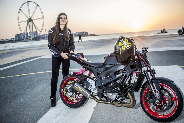 Xdubai Debuts Stunt Bike Rider Sarah Lezito At Bluewaters